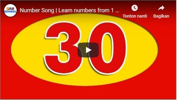 Number Song | Learn numbers from 1 to 30 - English biMBA